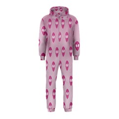Alien Pattern Pink Hooded Jumpsuit (kids) by BangZart