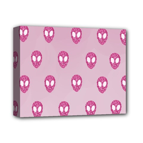 Alien Pattern Pink Deluxe Canvas 14  X 11  by BangZart