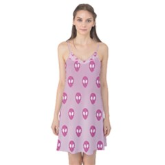 Alien Pattern Pink Camis Nightgown