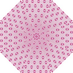 Alien Pattern Pink Golf Umbrellas
