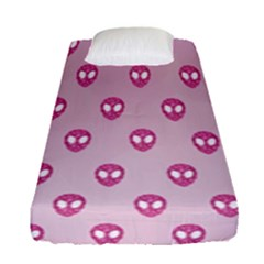 Alien Pattern Pink Fitted Sheet (single Size) by BangZart