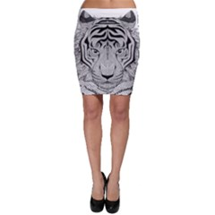 Tiger Head Bodycon Skirt