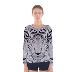 Tiger Head Women s Long Sleeve Tee