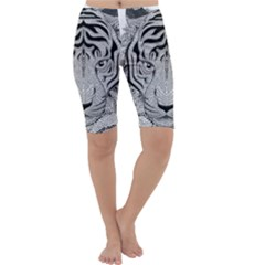 Tiger Head Cropped Leggings