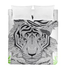 Tiger Head Duvet Cover Double Side (full/ Double Size) by BangZart