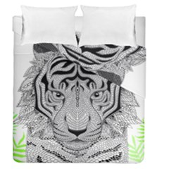 Tiger Head Duvet Cover Double Side (queen Size)