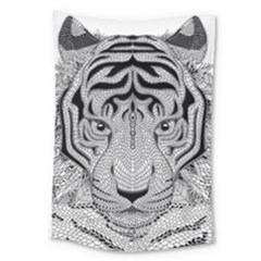 Tiger Head Large Tapestry