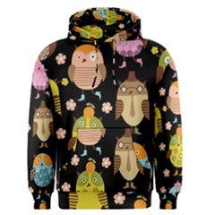 Cute Owls Pattern Men s Pullover Hoodie by BangZart