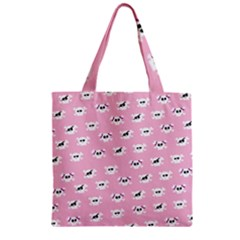 Girly Girlie Punk Skull Zipper Grocery Tote Bag by BangZart