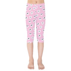 Girly Girlie Punk Skull Kids  Capri Leggings