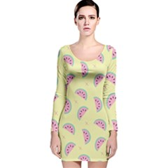 Watermelon Wallpapers  Creative Illustration And Patterns Long Sleeve Velvet Bodycon Dress