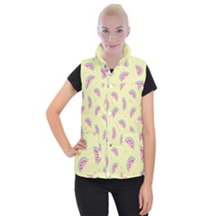 Watermelon Wallpapers  Creative Illustration And Patterns Women s Button Up Puffer Vest