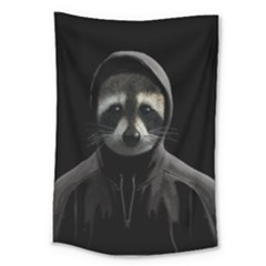 Gangsta Raccoon  Large Tapestry by Valentinaart
