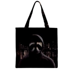 Gangsta Raccoon  Zipper Grocery Tote Bag