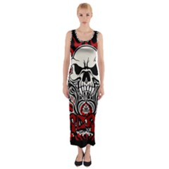 Acab Tribal Fitted Maxi Dress