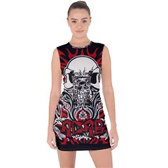 Acab Tribal Lace Up Front Bodycon Dress