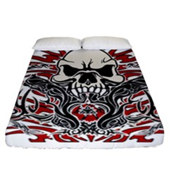 Skull Tribal Fitted Sheet (california King Size)