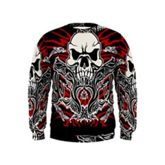 Skull Tribal Kids  Sweatshirt