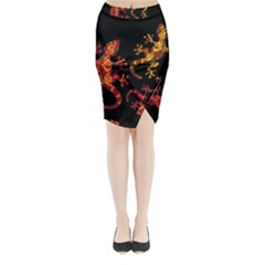 Ornate Lizards Midi Wrap Pencil Skirt by Valentinaart