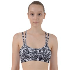 Tarot Cards Pattern Line Them Up Sports Bra