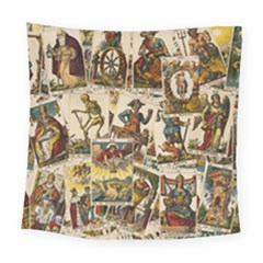 Tarot Cards Pattern Square Tapestry (large)