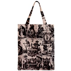 Tarot Cards Pattern Zipper Classic Tote Bag by Valentinaart