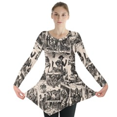 Tarot Cards Pattern Long Sleeve Tunic