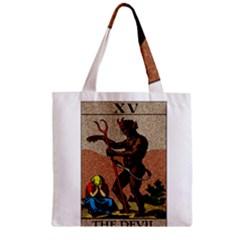 The Devil   Tarot Zipper Grocery Tote Bag