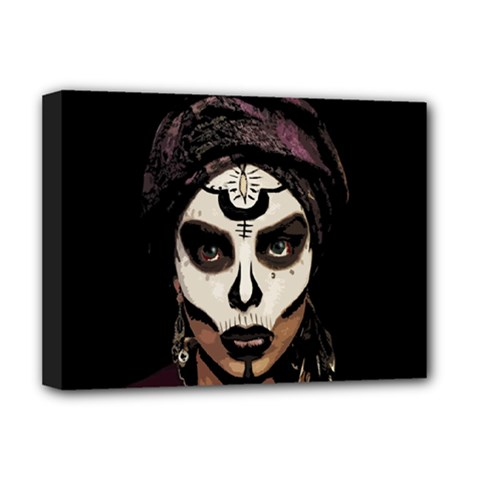 Voodoo  Witch  Deluxe Canvas 16  X 12   by Valentinaart