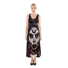 Voodoo  Witch  Sleeveless Maxi Dress