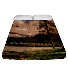 Landscape Fitted Sheet (california King Size)