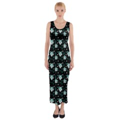 Teal Badgers Fitted Maxi Dress by treegold