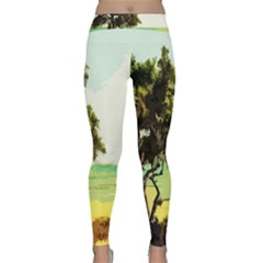 Landscape Classic Yoga Leggings by Valentinaart