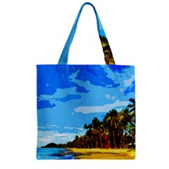 Landscape Zipper Grocery Tote Bag