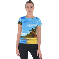 Landscape Short Sleeve Sports Top