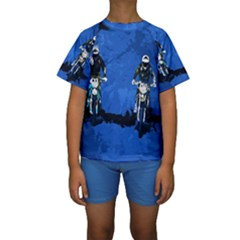 Motorsport  Kids  Short Sleeve Swimwear by Valentinaart
