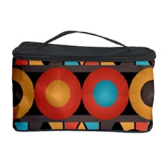 Colorful Geometric Composition Cosmetic Storage Case by linceazul