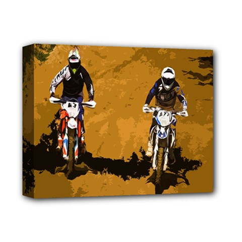 Motorsport  Deluxe Canvas 14  X 11  by Valentinaart
