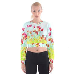 Poppy Field Cropped Sweatshirt