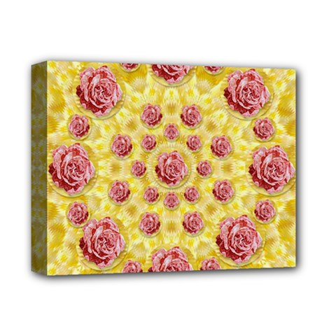 Roses And Fantasy Roses Deluxe Canvas 14  X 11  by pepitasart