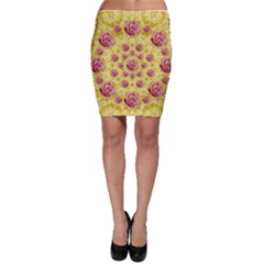 Roses And Fantasy Roses Bodycon Skirt by pepitasart