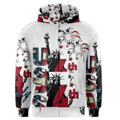 4th Of July Independence Day Men s Zipper Hoodie