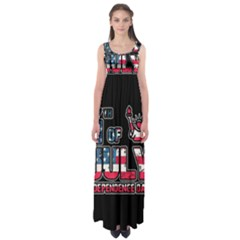 4th Of July Independence Day Empire Waist Maxi Dress