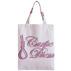 Carpe Diem  Zipper Classic Tote Bag