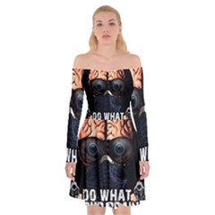 Do What Your Brain Says Off Shoulder Skater Dress