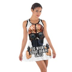Do What Your Brain Says Cotton Racerback Dress by Valentinaart