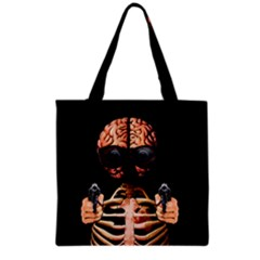 Do What Your Brain Says Grocery Tote Bag by Valentinaart