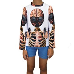 Do What Your Brain Says Kids  Long Sleeve Swimwear
