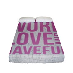 Grunge Style Motivational Quote Poster Fitted Sheet (full/ Double Size) by dflcprints