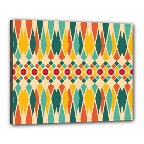 Festive Pattern Canvas 20  X 16  by linceazul